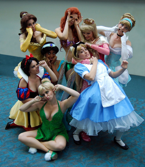 Disney Week (Surprise Cosplay)  Cosplay of Disney Princesses, based on this picture.