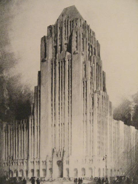decoarchitecture:  Fisher Building, Detroit, Michiganvia olddetroit Sketch by the great Hugh Ferriss. olddetroit:  Fisher Building sketch study by American delineator Hugh Ferriss.  1927