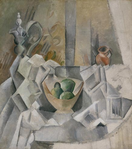 Pablo Picasso Carafe, Jug and Fruit Bowl 1909