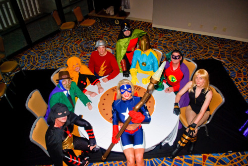 Justice Society of America. Taken at Dragon*Con 2010 Photographer Unknown* *it was one of the photoshoots official photographers.