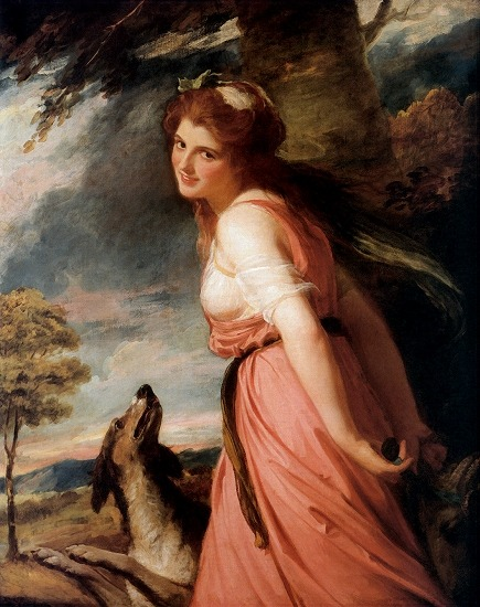 Lady Hamilton (as a Bacchante) by George Romney, 1785