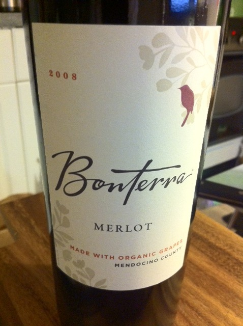 A bottle of Merlot