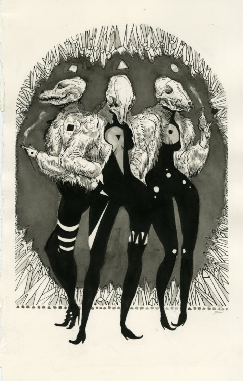jensineeckwall:  Three Witches and the Perfect Forms, ink