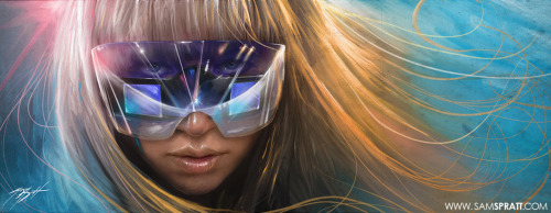 Lady Gaga Portrait Painting featuring her wild new sunglasses she made as creative director of Polaroid. For the latest from me, become a fan on facebook! https://www.facebook.com/SamSprattIllustration and follow me on twitter! http://twitter.com/#!/SamSpratt