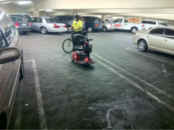 Wow… You only see this in Vegas.. A parked mobile wheelchair !