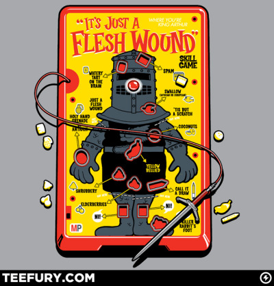 nellodee:  gamefreaksnz:  Flesh Wound by Captain RibMan USD$10 for 24 hours only Monthy Python meets Milton Bradley..  Want.