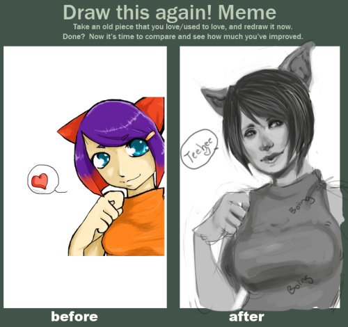 Improvement meme. Guh… I wish I could go back in time and smack that anime right out of my high school hands.