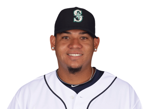 Felix Hernandez + Miguel Olivo = Figuel Olivernandez?!? (I swear that's not just a picture of Felix.)