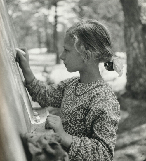 Werner Bischof School in the forest, Otwock, Poland, 1948