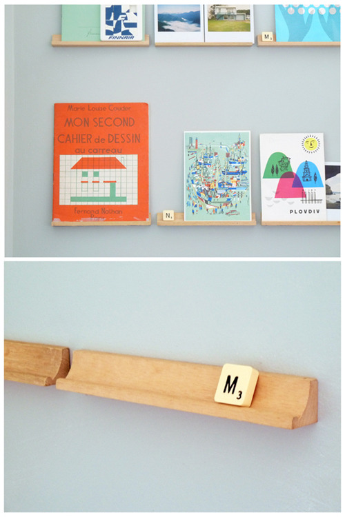 Genius! I may have some of these old skool Scrabble tile racks still.