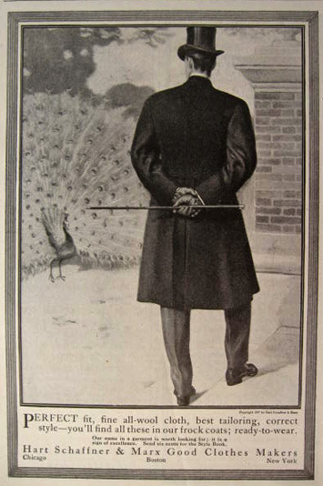 Hart, Schaffner, and Marx Men's Fashion ad, 1907