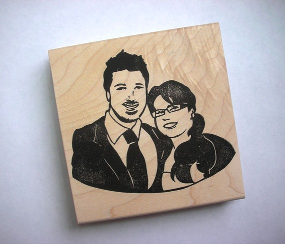 How amazing! Custom rubber stamps from Kozue (via A Beautiful Mess)