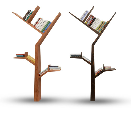 "Booktree by Kostas Syrtariotis jonwithabullet:  ""venice-based designer kostas syrtariotis presents 'booktree' at milan design week 2011 as part of the kidsroomzoom event. exactly as the name indicates, the shelf takes on the shape of a tree in which its outreaching branches climb the wall, providing space in which to store books and other small items.  See more images and details on Designboom."
