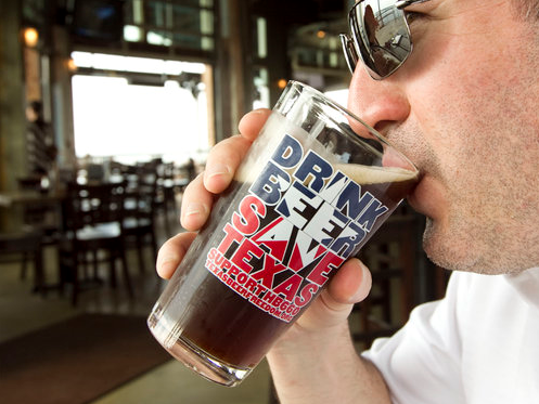 "You can't buy locally-made brewpub-made beer in Texas grocery stores. The brewpubs want to change that. Would it ""save Texas?"" Well, that's what the pint glass says, and why would beer lie to us?"