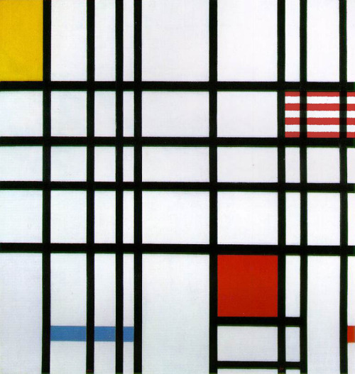 Piet Mondrian: Composition with Yellow, Blue and Red. Found by Walter Makarucha Jr.