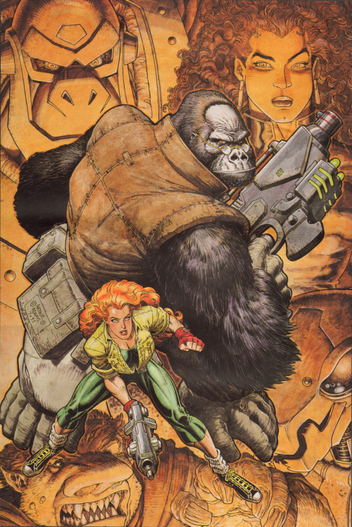 jerrybennett:  Monkeyman and O'Brien by Arthur Adams  That right there is an ape who takes no truck with your foolishness.