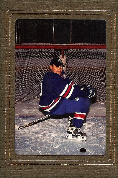 Dustin Byfuglien as a kid!