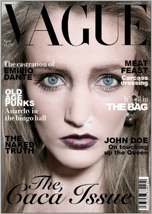 Our final cover for Vague Magazine. So pleased with it!