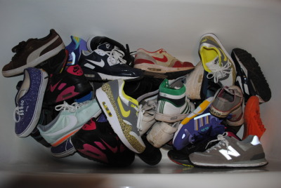 Ran a bath full of trainers, STEEEEZZ…