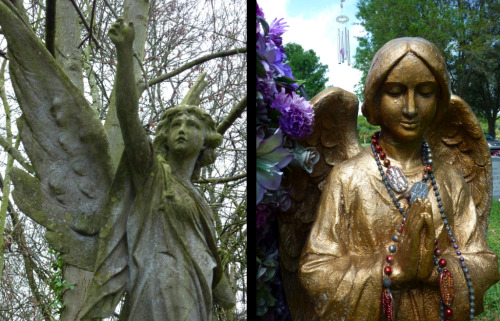 Compare and contrast.  Sacred and profane? Highgate Cemetery in London, England and Hackney Cemetery in Riverview, FL.