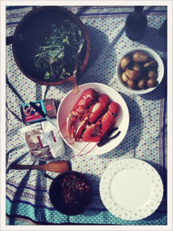Lobster lunch for Maman. X