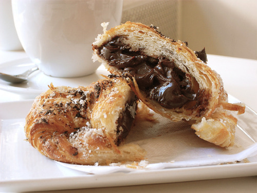I could honestly kill a man for a chocolate croissant right about now