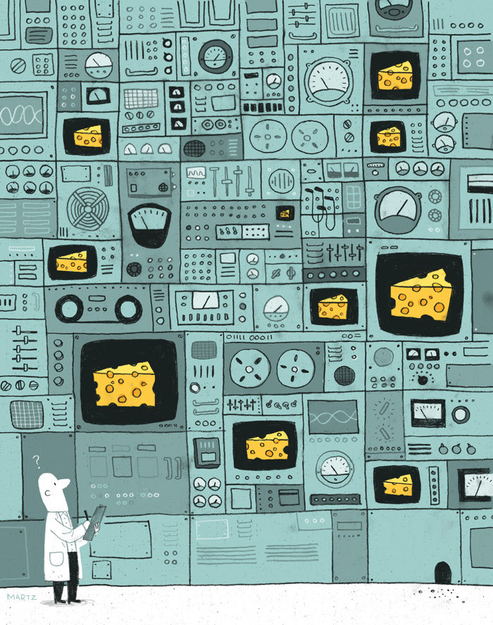 The Work/Life 2 directory of illustration is out from Uppercase, and it's a beautiful little book packed with profiles of great illustrators, their workspaces, sketchbooks, and illustrations. This is the piece I created for the book.