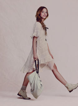 [Sasha Pivovarova for Free People April 2011 Catalogue] (i want everything in this shoot - the boots!)