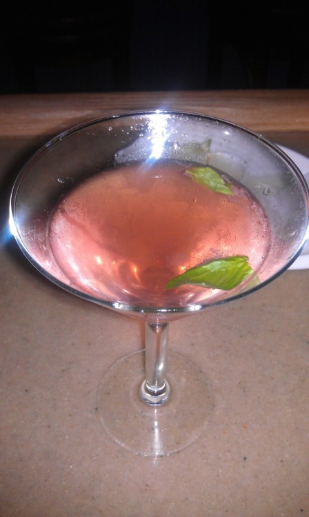 'watermelon basil' tequila, watermelon liquer, limoncello, basil, soda water