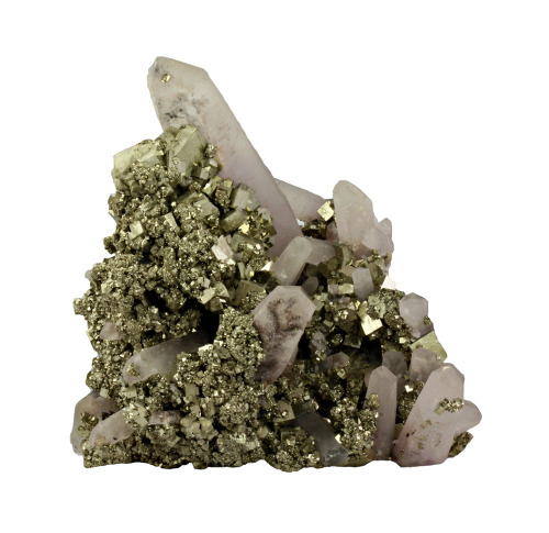 Pyrite with Quartz from China