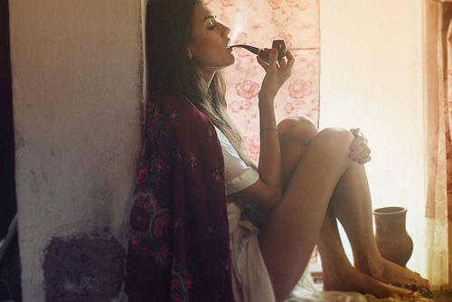 awelltraveledwoman: Why don't I look like this when I smoke my pipe. Damn it