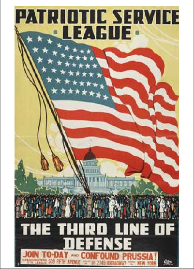 A flag bigger than the State. WWII propaganda