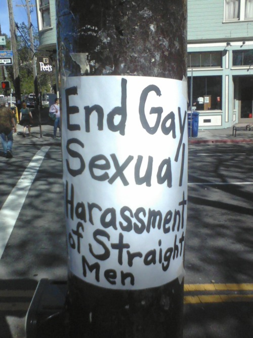 the #team supports the gay harassment of straight men #fail