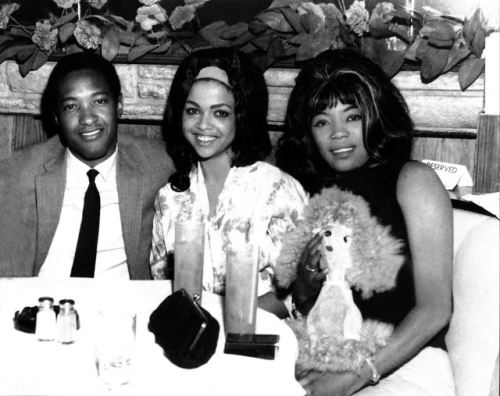Sam Cooke, Tammi Terrell and Betty Harris at Palms Cafe in NYC, 1964.
