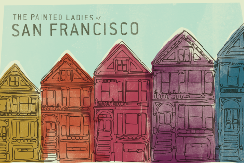 Painted Ladies by Mallory Box More illustrations for your inspiration. __posted by weandthecolor // facebook // twitter