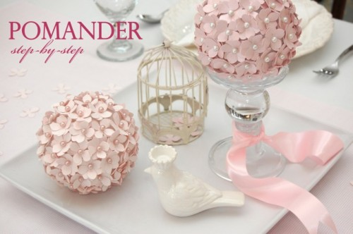 "DIY TUTORIAL: HOW TO MAKE A POMANDER FLOWER BALL Pomanders, or ""Flower Kissing Balls"" are gorgeous floral decorations at parties and weddings."