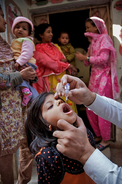 PAKISTAN: Polio Immunization Days, April 5-7 on Flickr.The Ministry of Health, the World Health Organization (WHO) and UNICEF are holding the Sub-National Polio Immunization Days starting today until 7th April. We urge all UNICEF friends and supporters to spread the message, and ensure that each child in their community under the age of five is immunized. If the polio teams do not reach their homes, they should take their children to the nearest vaccination point. To register complaints if the teams have not reached their house, please call 0800-88588. Due to death anniversary of former Prime Minister Zulfikar Ali Bhutto, the SNIDs will be held in high risk selected district of Sindh province from April 6 to 8.. Due to the doctors' strike, the SNIDs in Lahore will be held from April 7 to 9. The SNIDs are postponed in FR Peshawar, FR Kohat, Central and Lower Kurrum and Tera Valley of Khyber Agency.  Let us all join hands in making Pakistan polio-free.