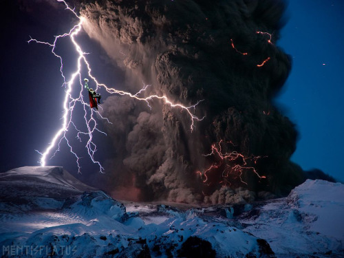Thor versus the Eyjafjallajokull Volcano! Gesundmjolnirheit! #nationalgeographic #marvel