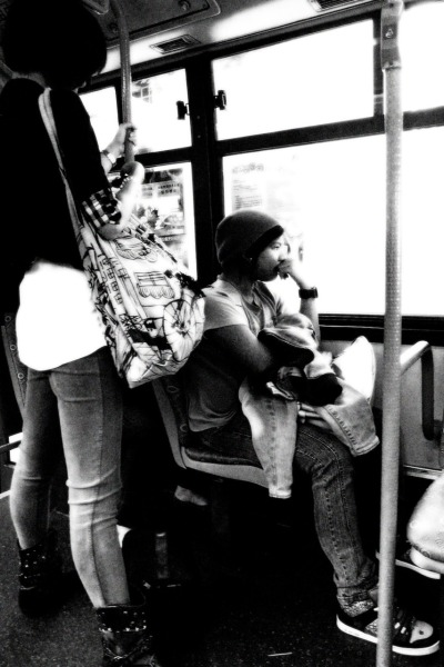 Deep-sage commuter. (Macau Commuters Series) photo by: Lei Viterbo ©