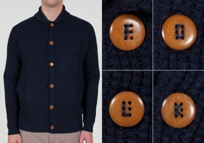 Folk -Waffle Button Up Cardigan