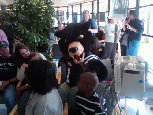 The Rebel Black Bear has been spotted officially for the first time… in a children's hospital.