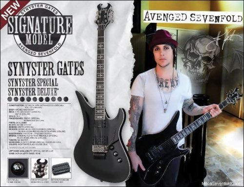 syn and his new fucking awesome guitarrr