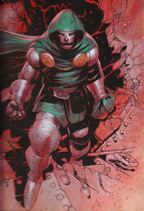 bigredrobot:   Dr. Doom by Chris Bachalo  DOOOOOOOM!