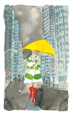 prettystuff:  matchbookmag:The Matchbook girl… remembers that April showers bring May flowers. (Artwork by Bella Foster)  appropriate for today.