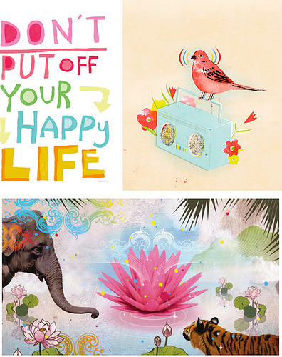 coloredmondays:  happy life