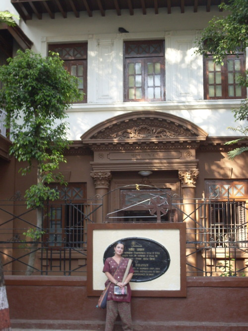 Me outside Gandhi's house