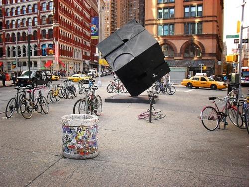 The Astor Place Cube. East Village, Manhattan.  — You can now also purchase my photography on a wide variety of merchandise (t-shirts, magnets, postcards, iPhone/iPad cases, posters, the list goes on). To view all of these  New York City gifts and products at my Zazzle store, simply click here.   To purchase this as a print/card here on Tumblr simply click below the photo here. View this photo on Flickr here.