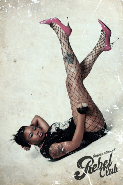 "Rebel Club Pin Up Series. Bonita J ""the VA princess""  photography by Dexer D. Cohen"
