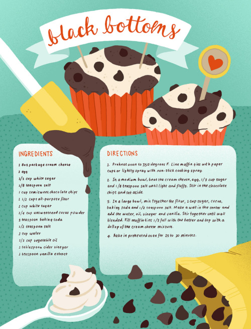 greaterthanorequalto:  I did a recipe illustration to be featured on DessertGirl.blogspot.com as a guest post / illustrator / dessert lover. Black bottoms are one of my favorite desserts, and a treat my family makes quite often for special occasions! Enjoy the recipe!