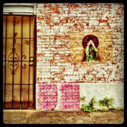 Textures. Interesting pink stamped pattern. #Houston #streetart #drivebyphotography    (Taken with instagram)